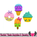 Jesse James Buttons 4 pc So Sweet Ice Cream, Doughnut, & Cupcake Buttons