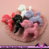 POODLE DoG KAWAII CABOCHONS / Decoden Flatback Resin Cabochons 19x20mm (5 pieces) - Rockin Resin  - 2