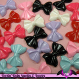 6 Pcs BOW Tie Decoden Kawaii Flatback Resin Cabochons 28x21mm - Rockin Resin  - 1