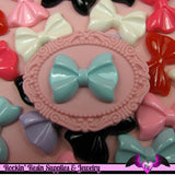 6 Pcs BOW Tie Decoden Kawaii Flatback Resin Cabochons 28x21mm - Rockin Resin  - 2