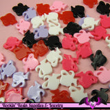 8 Pcs Ponytail Girl Head Silhouette Small Decoden Kawaii Flatback Resin Cabochons 10mm - Rockin Resin  - 2