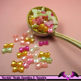 50 Pcs Pearlized BOWS Decoden Kawaii Flatback Resin Cabochons 13x8mm - Rockin Resin  - 3