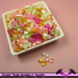 50 Pcs Pearlized BOWS Decoden Kawaii Flatback Resin Cabochons 13x8mm - Rockin Resin  - 2