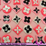 6 pieces Flower Resin Decoden Kawaii Flatback Cabochons - Rockin Resin  - 2