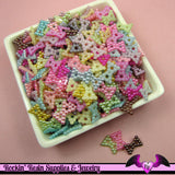 50 Pcs Pearlized BOWS Decoden Kawaii Flatback Resin Cabochons 12x9mm - Rockin Resin  - 2