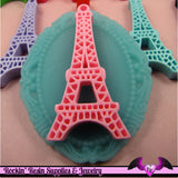 5 pieces Paris EIFFEL TOWER Resin Flatback Cabochon or Charm 47 x 23 mm - Rockin Resin  - 3