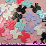 6 Pieces BOWS  Decoden Cabochons 22x22mm - Rockin Resin  - 2