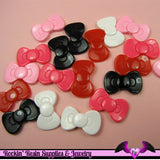 5 Pieces Small BOWS  Decoden Resin Cabochons 23x13mm - Rockin Resin  - 3