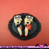 4 pieces BETTY BOOP Sexy Resin Decoden Flatback Cabochon 15x35mm - Rockin Resin  - 3