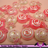 6 pieces Glitter LOLLIPOP Kawaii Resin  Flatback Cabochon 22x16mm - Rockin Resin  - 2