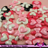 5 pieces HEART LOLLIPOP with BOW Kawaii Resin  Flatback Cabochon 27x20mm - Rockin Resin  - 3