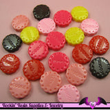 6 pieces COOKIES Sweets Kawaii Resin Flatback Cabochon 20mm - Rockin Resin  - 3