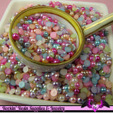 200 pcs 4 mm Bright Pastel Mix HALF PEARL Flatbacks for Decoden Projects - Rockin Resin  - 2