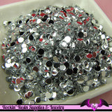 200 pcs 4mm CLEAR MIRROR RHINESTONES Flatback Great Quality 16ss - Rockin Resin  - 2