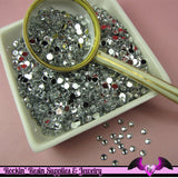 200 pcs 4mm CLEAR MIRROR RHINESTONES Flatback Great Quality 16ss - Rockin Resin  - 3