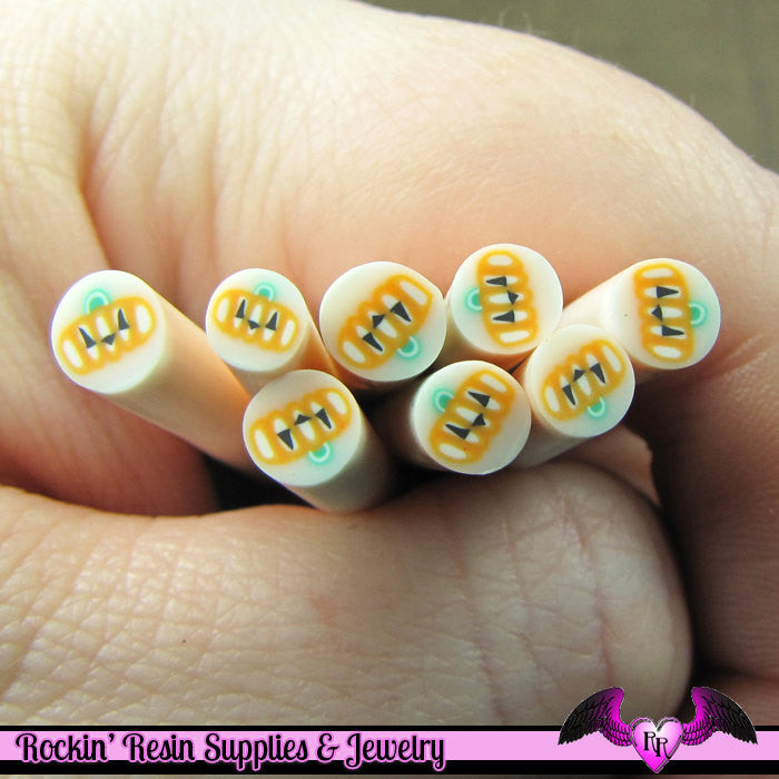 JACKOLATERN PUMPKIN Halloween Polymer Clay Cane for Nail Art Decoden Kawaii DIY