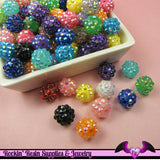 5 Basketball Wives Mixed Spacer Resin Rhinestone Beads Pave Beads 12mm - Rockin Resin  - 2