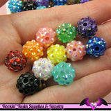 5 Basketball Wives Mixed Spacer Resin Rhinestone Beads Pave Beads 12mm - Rockin Resin  - 1