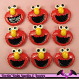 Red Kids Head Decoden Kawaii Flatback Cabochon 4 pieces - Rockin Resin  - 1