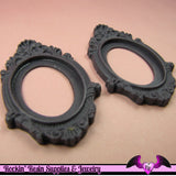 2 pcs 30x40mm Inset Victorian Resin CAMEO SETTING Base Bezel in Dark Purple - Rockin Resin  - 2
