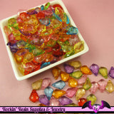 25 pcs BAROQUE SHAPED Small Drop Acrylic Faceted Crystals Beads or Charms Bright Transparent Mix 16 x 11 mm - Rockin Resin  - 2