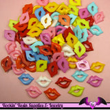 10 pcs BRIGHT LIPS Resin Flatback Decoden Cabochons 18 x 12 mm - Rockin Resin  - 2
