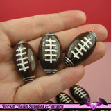 4 Pcs FOOTBALL Sports Resin Flatback Decoden Cabochons 32x18mm - Rockin Resin  - 1