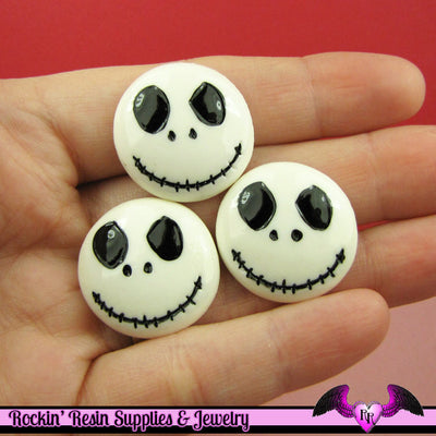 4 pc JACK NIGHTMARE Decoden Flatback Decoden Cabochon Cellphone Decoration - Rockin Resin  - 1