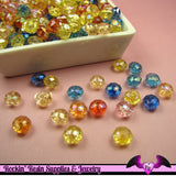 100 pcs Faceted Rondelle AB Acrylic Beads 6mm x 8mm - Rockin Resin  - 2