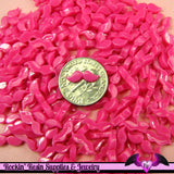 10 pcs Nail Art HOT PINK MUSTACHE Tiny Resin Kawaii Flatback Cabochons 12x3mm - Rockin Resin