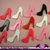 5 pcs HIGH HEEL SHOE Girly Resin Flatback Decoden Cabochon 25x30mm - Rockin Resin  - 1