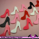 5 pcs HIGH HEEL SHOE Girly Resin Flatback Decoden Cabochon 25x30mm - Rockin Resin  - 2