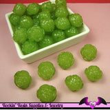 Large Chunky ROSE Flower Acrylic Jelly Beads in LIME GReEN Color 19mm - Rockin Resin  - 2
