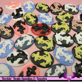 6 pc BOAT ANCHOR Mix 25x18mm Resin Cameos Flatback Cabochons - Rockin Resin