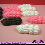 6 pc Large WHIPPED CREAM DOLLOPS Resin Kawaii Decoden Flatback Cabochon 38x15mm - Rockin Resin  - 2