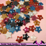 6 pc Domed GLITTER STARS Decoden Resin Flatback Cabochon 20mm - Rockin Resin  - 2