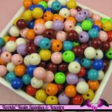 8mm GUMBALL BEADS in Bright Resin Acrylic Round Bead Assortment (50 pieces) - Rockin Resin  - 2