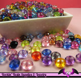 COLORFUL SAUCER Acrylic Beads 8mm x 5.5mm Mixed Assortment  (100 pieces) - Rockin Resin  - 2