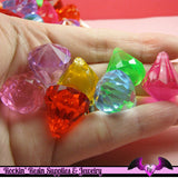 Colorful ACRYLIC DROP Pendants / Beads 23x18mm  (8 pieces) - Rockin Resin  - 1