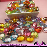 Faceted PEAR DROP Bright Mix Acrylic Beads 18x13mm ( 25 pieces ) - Rockin Resin  - 2