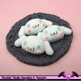 5 pcs Anime Cartoon Character Resin Decoden Flatback Kawaii Cabochon 29x12mm - Rockin Resin