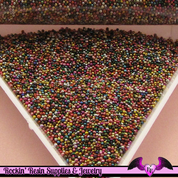 Micro Marbles WARM MIX  Half Ounce / 14 grams caviar microbead miniature kawaii fake sprinkles