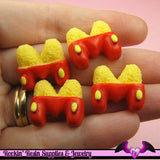 5 pcs Cartoon Mouse M Bun Kawaii Resin Decoden Flatback Cabochon 19x18mm - Rockin Resin