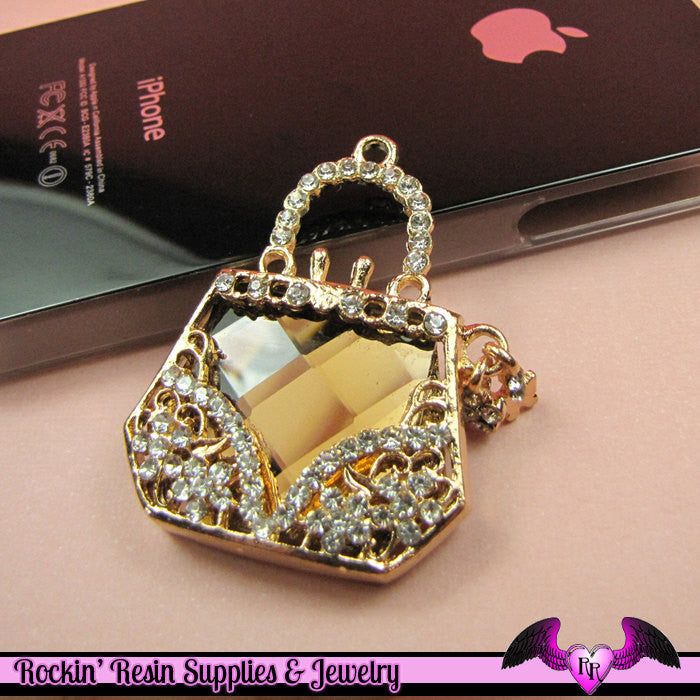 Bling HANDBAG Purse Alloy Cellphone Decoration Decoden Cabochon