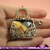 Bling HANDBAG Purse Alloy Cellphone Decoration Decoden Cabochon - Rockin Resin  - 2