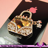 Bling HANDBAG Purse Alloy Cellphone Decoration Decoden Cabochon - Rockin Resin  - 3