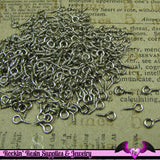 100 pcs Antique Silver Plated Screw Eyes 8mm x 4mm - Rockin Resin  - 2