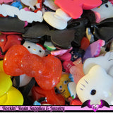 1 Pound Seconds GRAB BaG of Resin Decoden Flatback Kawaii Cabochons and Cameos - Rockin Resin  - 2