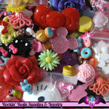 1 Pound Seconds GRAB BaG of Resin Decoden Flatback Kawaii Cabochons and Cameos - Rockin Resin  - 4