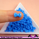10 pcs BLUE BOW Cabochon Tiny Nail Art Resin Flatback Nail Cabochons - Rockin Resin  - 1